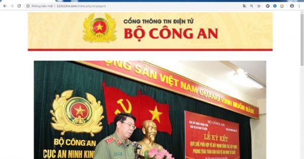 Cảnh báo website giả Bộ Công an, Công an Đà Nẵng, phát tán mã độc