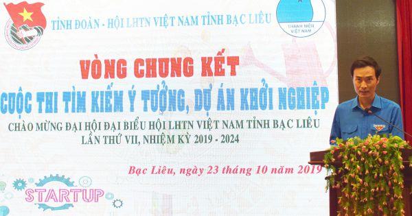 Chung kết cuộc thi Tìm kiếm ý tưởng, dự án khởi nghiệp tỉnh Bạc Liêu lần thứ I năm 2019