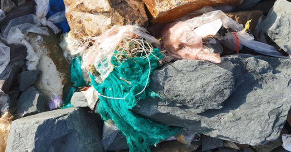 Phú Yên: Sóng biển lớn, rác 'tấn công' bãi biển Tuy Hòa