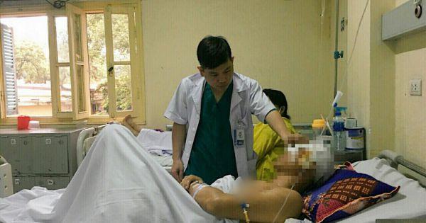 Tai nạn lao động, một người bị lột toàn bộ da đầu và nửa mặt
