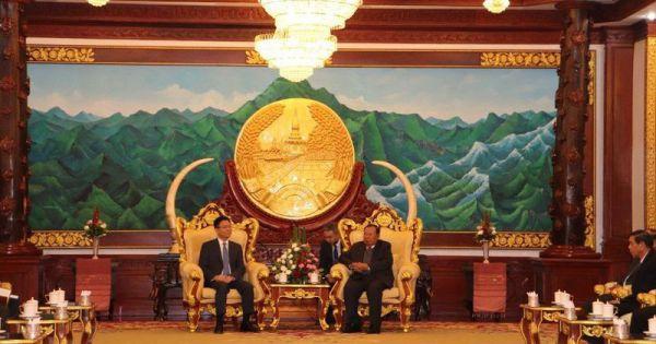 Bộ trưởng Lê Thành Long tiếp kiến Tổng Bí thư, Chủ tịch nước CHDCND Lào.