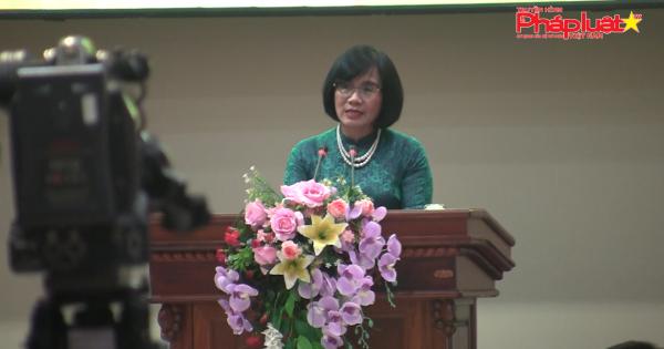Thứ trưởng bộ tư pháp Đặng Thị Hoàng Oanh chủ trì tổng kết hội nghị thi đua ngành tư pháp khu vực Tây Nam Bộ 2019.