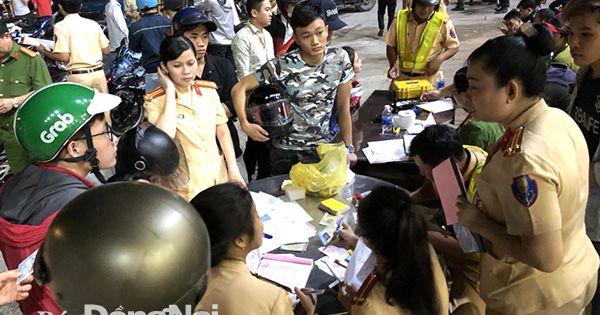 Biên Hòa: Tạm giữ 255 phương tiện vi phạm trật tự an toàn giao thông trong đêm chung kết bóng đá nam SEA games 30
