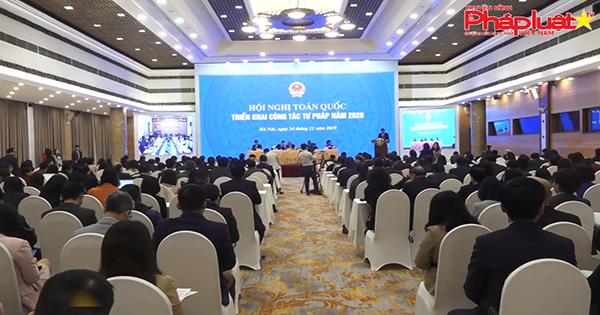 Hội nghị trự tuyến toàn Quốc triển khai công tác tư pháp 2020