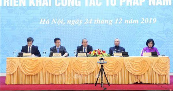 Khai mạc Hội nghị toàn quốc triển khai công tác tư pháp năm 2020