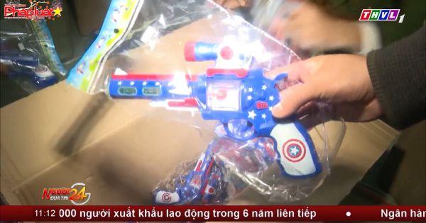Công an TP Huế tạm giữ lô hàng hàng trăm súng nhựa, đồ chơi trẻ em nguy hiểm, bạo lực