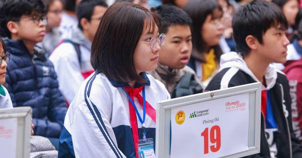 """Hà Nội: 1259 thí sinh tranh tài tại """"Cuộc thi Olympic Tiếng Anh"""""""