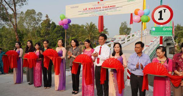 Khánh thành công trình cầu Phú Thạnh A và trao 200 suất học bổng cho trẻ em có hoàn cảnh đặc biệt ở Vĩnh Long