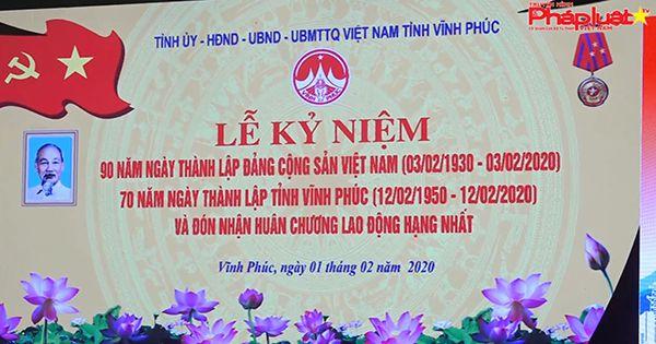 Thủ tướng Nguyễn Xuân Phúc dự kỷ niệm 70 năm Ngày thành lập tỉnh Vĩnh Phúc