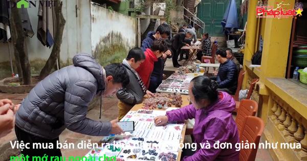 Khám phá phiên chợ đá quý triệu đô giữa lòng Hà Nội
