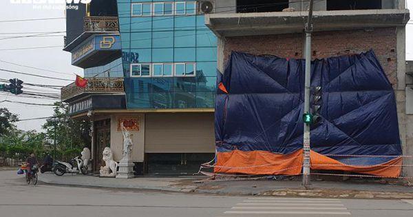 Tòa nhà vi phạm trật tự xây dựng của Đường Dương bị đình chỉ thi công
