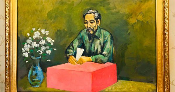 """13 tác phẩm đặc sắc tại triển lãm """"Tháng Năm nhớ Bác"""""""
