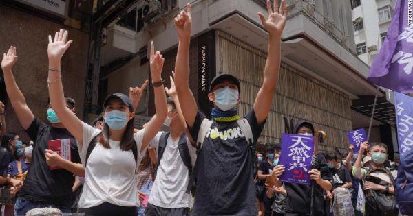 Người Hong Kong xuống đường phản đối dự luật an ninh