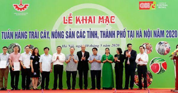 Khai mạc Tuần hàng trái cây, nông sản các tỉnh, thành phố tại Hà Nội