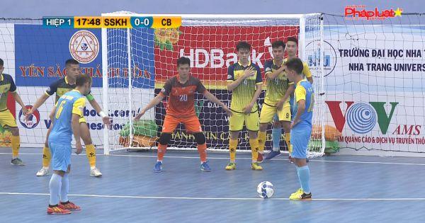 Giải futsal HDBank VĐQG 2020: Chủ nhà Khánh Hòa chật vật giành chiến thắng trước Cao Bằng