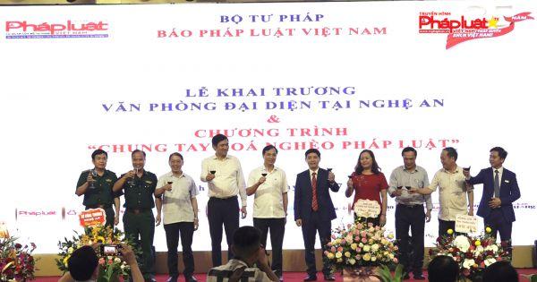 Khai trương Văn phòng đại diện Báo Pháp luật Việt Nam tại Nghệ An