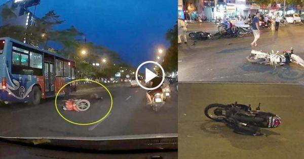 Bắt giữ tài xế ô tô tông liên hoàn 7 xe máy đang dừng đèn đỏ rồi rồ ga bỏ chạy