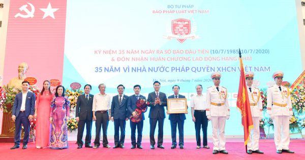 Báo Pháp luật Việt Nam kỷ niệm 35 năm ra số đầu tiên và nhận Huân chương Lao động hạng Nhất