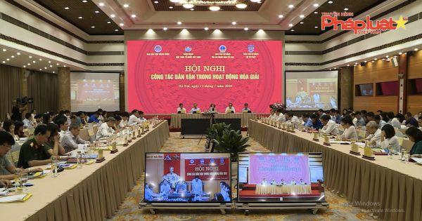 """Hội nghị trực tuyến """"Công tác dân vận trong hoạt động hòa giải"""" năm 2020"""