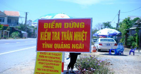 Tái kích hoạt chốt kiểm tra y tế ở cửa ngõ phía Bắc của tỉnh Quảng Ngãi