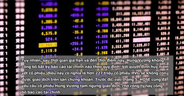 Hơn 220 triệu cổ phiếu 'vua cá' Hùng Vương bị hủy niêm yết