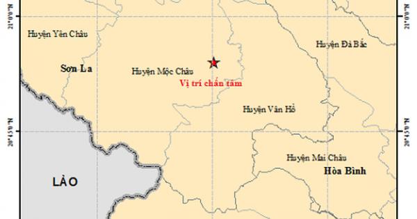 Thêm một trận động đất 4 độ Richter tại Sơn La