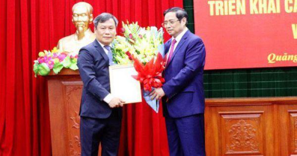 Thứ trưởng Bộ Kế hoạch và Đầu tư Vũ Đại Thắng giữ chức vụ Bí thư Tỉnh ủy Quảng Bình