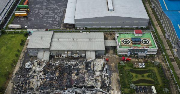 Bắc Ninh: Hiện trường đám cháy lớn thiêu rụi hệ thống nhà xưởng