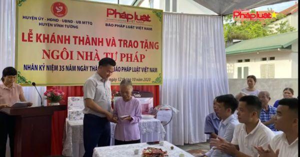 """Văn phòng Báo Pháp luật Việt Nam khu vực phía bắc trao tặng """"ngôi nhà tư pháp"""""""