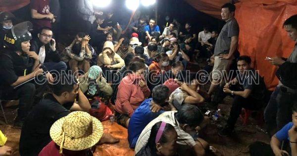 41 người bị bắt tại sới bạc ở Đồng Nai