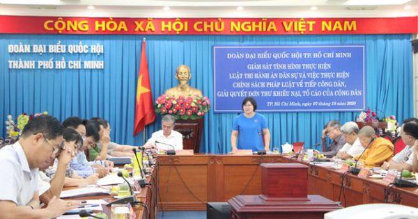 TPHCM giám sát thực hiện Luật Thi hành án dân sự