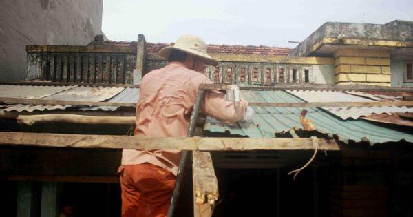 9 người bị thương, hàng chục hecta đất canh tác bị thiệt hại sau bão số 6 ở Quảng Ngãi