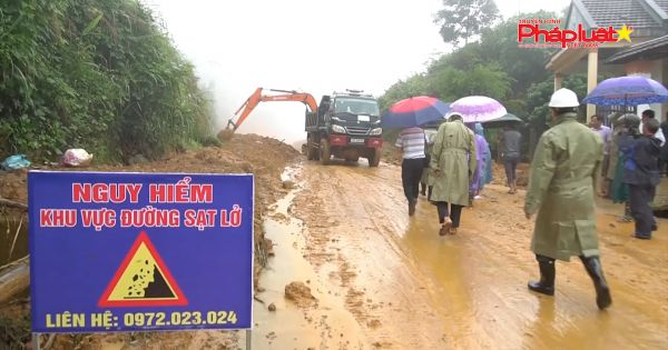Quảng Ngãi sạt lở núi nghiêm trọng tại các huyện miền núi