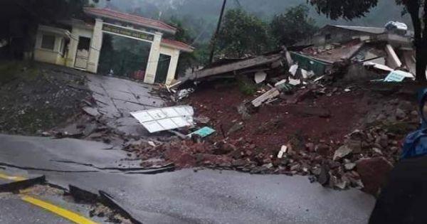 Quốc lộ 12A đoạn qua Quảng Bình biến dạng, nứt gãy như 'động đất'
