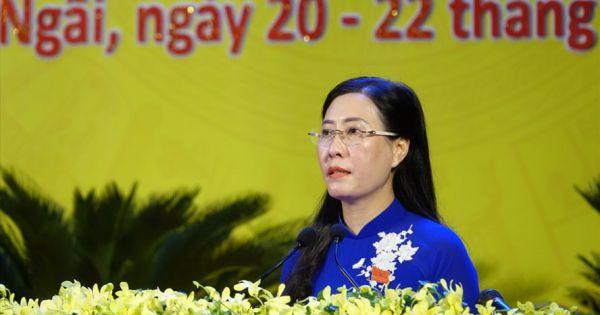 Bà Bùi Thị Quỳnh Vân được bầu tiếp tục giữ chức Bí thư Tỉnh ủy Quảng Ngãi