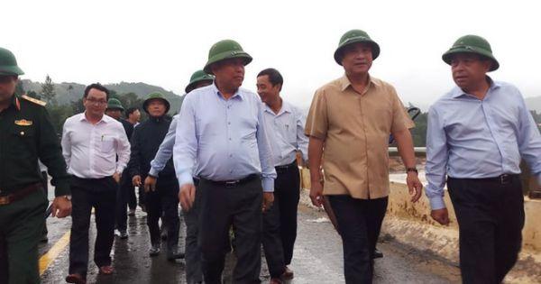 Phó Thủ tướng Trương Hòa Bình kiểm tra công tác phòng chống thiên tai tại Quảng Nam