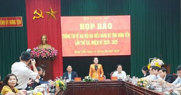 Đại hội đại biểu Đảng bộ tỉnh Hưng Yên sẽ diễn ra từ ngày 24 - 26/10