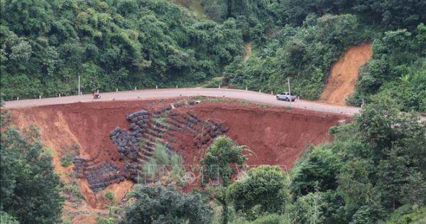 Tuyến đường độc đạo nối Bình Phước - Lâm Đồng xuất hiện hơn 10 điểm sạt lở mới