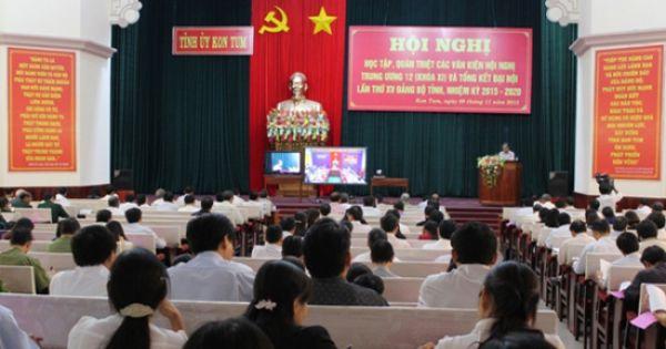 Kon Tum có tân Chủ tịch Hội đông nhân dân và UBND tỉnh