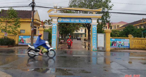 Do ảnh hưởng bão số 9, 77 trường học ở Hà Tĩnh phải nghỉ học