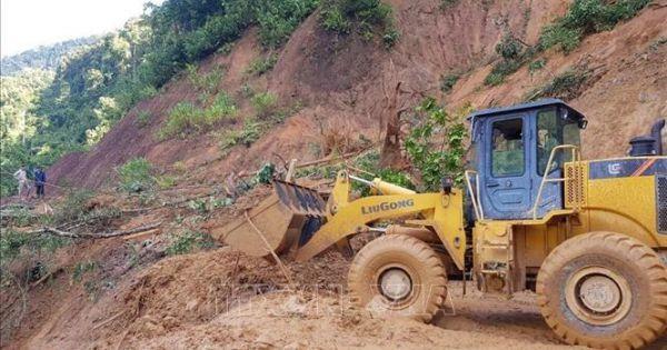 21 người ở hai xã Trà Leng và Trà Vân thoát nạn trong vụ sạt lở tại Nam Trà My - Quảng Nam