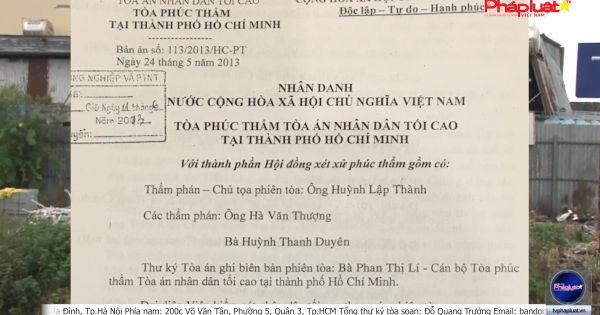 Chi Cục trưởng, Chi Cục thú y TP.HCM và Trạm Thú Y huyện Hóc Môn cố tình kéo dài thời gian, không thi hành bản án và chỉ đạo của UBND TP.HCM