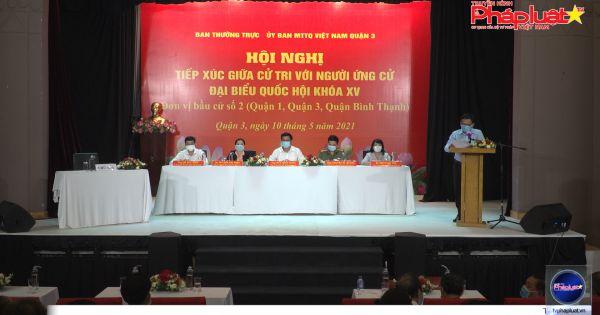 Ứng cử viên Đại biểu Quốc hội Nguyễn Sỹ Quang tiếp xúc cử tri Quận 3, TP.HCM