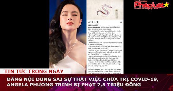 Đăng nội dung sai sự thật việc chữa trị Covid-19, Angela Phương Trinh bị phạt 7,5 triệu đồng
