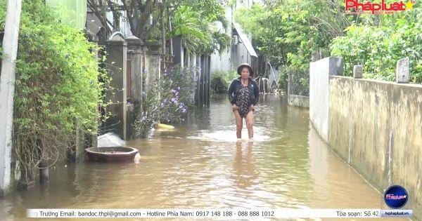 Quảng Nam: Trời nắng nhưng người dân phải sống trong ngập úng