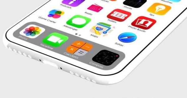 Thiết kế iPhone 8 camera kép theo chiều ngang, có bản màu trắng