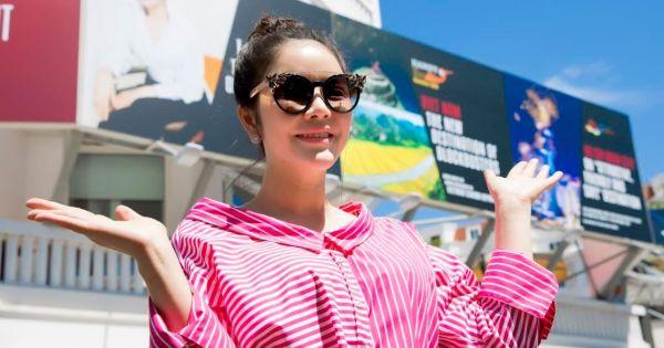 Lý Nhã Kỳ khoe sắc bên hình ảnh quảng bá Việt Nam tại Cannes 2017