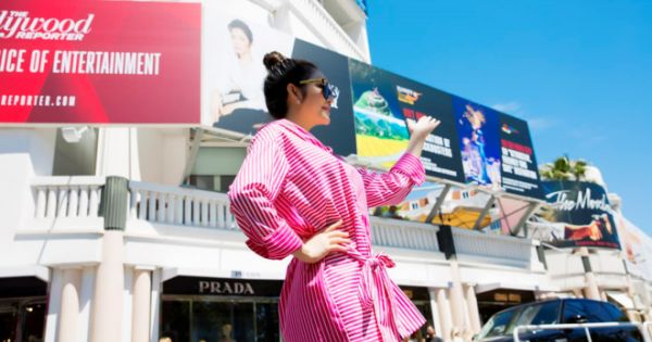 Treo pano tại LHP Cannes, Lý Nhã Kỳ không vi phạm gì