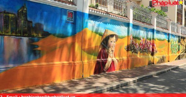 Độc đáo bức tranh tái hiện 3 miền đất nước được vẽ trên tường