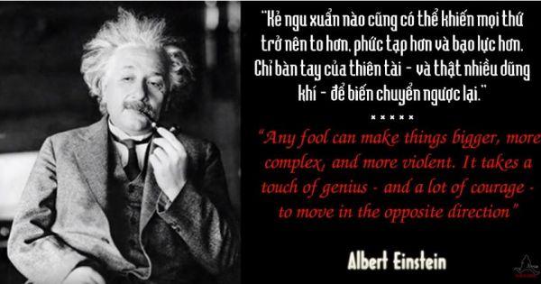 Thiên tài Einstein và những câu nói kinh điển - Einstein Quotes